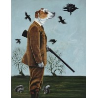 'Barney Goes A-hunting' A3 Limited Edition Print