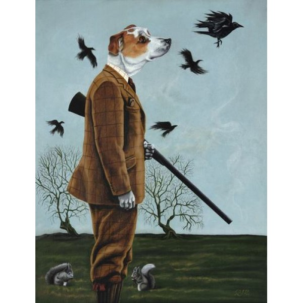 'Barney Goes A-hunting' Large Limited Edition Print