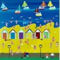At the Beach Huts by Gordon Barker