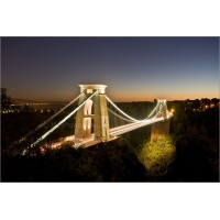 Clifton Suspension Bridge at Dusk, 4999 by Tony Howell