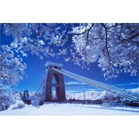 Clifton Suspension Bridge in Infra-red, 6883 by Tony Howell