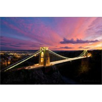 Clifton Suspension Bridge in Sunset, 8305 by Tony Howell