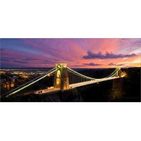 Clifton Suspension Bridge Sunset, 8307 by Tony Howell