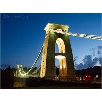 Clifton Suspension Bridge in Dusk,  Z118 by Tony Howell