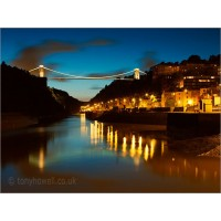 Clifton Suspension Bridge Lights, Z191 by Tony Howell