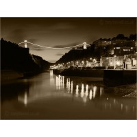 Clifton Suspension Bridge Dusk, Z191SEP by Tony Howell