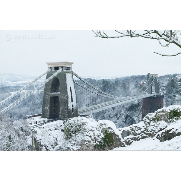 Clifton Suspension Bridge Snow, Z491 by Tony Howell