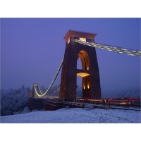 Clifton Suspension Bridge in Snow, Z632 by Tony Howell