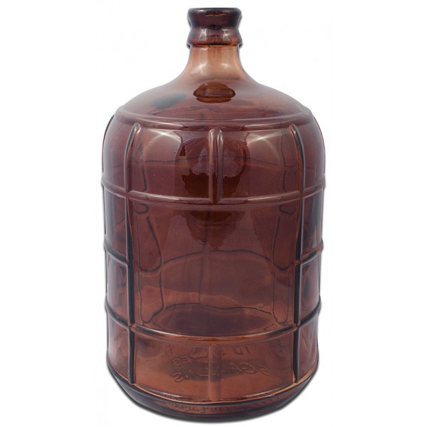 Large Hand made brown bottle
