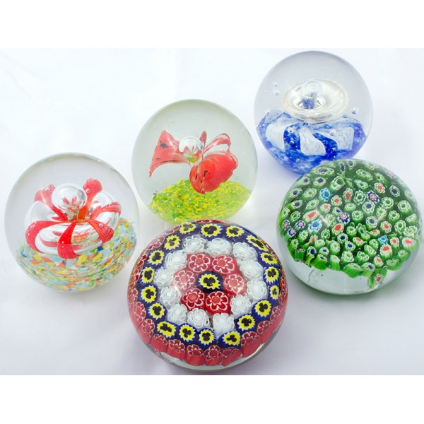 murano floral paperweight