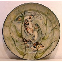 Koi Charger / Platter by Adrian Brough