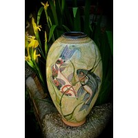 Koi Rounded Jar by Adrian Brough