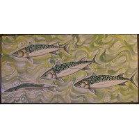 Bathroom Tiles (Mackerel Design) by Adrian Brough