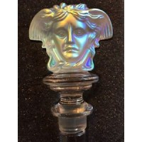 ROSENTHAL CRYSTAL BOTTLE STOPPER BY GIANNI VERSACE (White Iridescent Lumiere)
