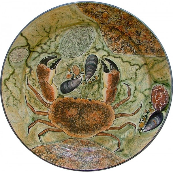 Crab Platter Dish (20 inches Diameter) by Adrian Brough
