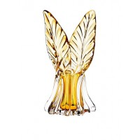 Godinger Leaf Wing Vase, Amber - Shannon Crystal of Ireland