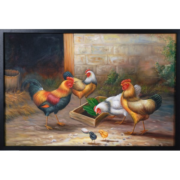 A Chicken Gathering I by Praphan Ittisan (Puy)