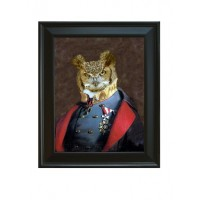 Framed Captain Strigiformes on Giclee on Archival Art Paper