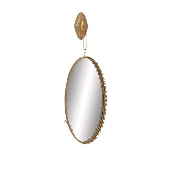 Hanging Gold Vanity Mirror