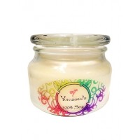 Yumscents hand-Poured Soy Candle In Apothecary Jar, Coconut Lime or beach Linen