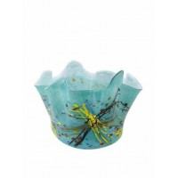 La Meridian Hand blown ruffle vase, multi (NOW SOLD)