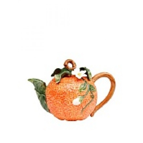 Handcrafted Ceramic Orange teapot