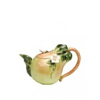 Handcrafted Ceramic Pear Teapot, Green