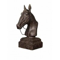 Winward Decor Resin Horse Head, Black (PAIR)
