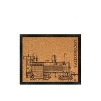 PTM Silkscreened Locomotive image on cork