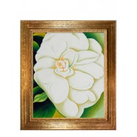 Georgia O'Keeffe hand painted oil on canvas reproduction, framed