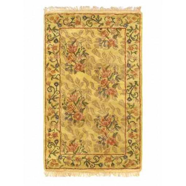 Handmade Classic Enchantment Rug, Light Gold