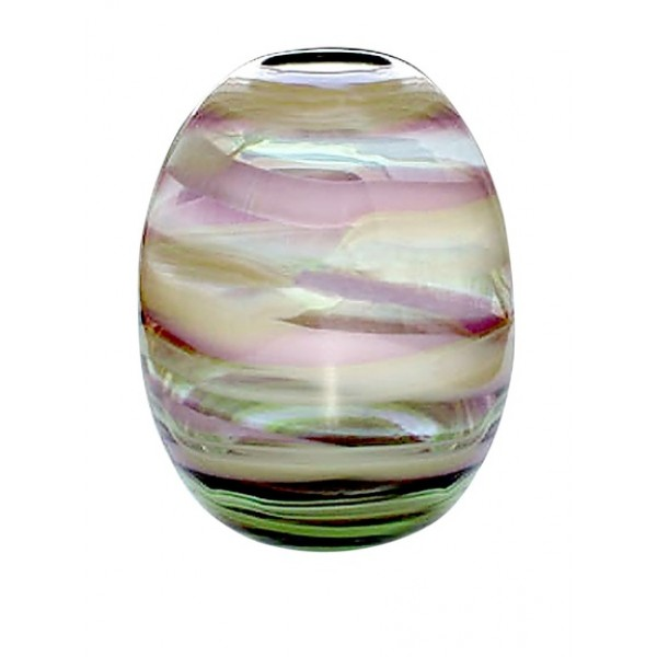 Jozefina Art Glass Orbit Vase, Green/Violet/Green (NOW SOLD)