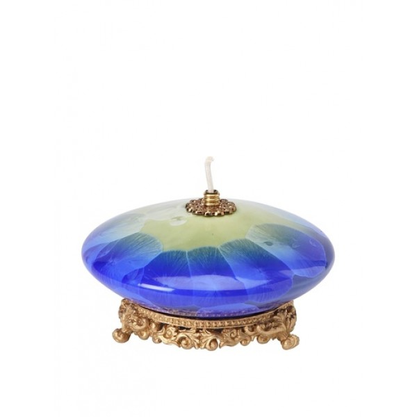 Appletree Fine Porcelain Oil Lamp - Blue