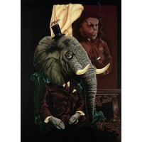 'The Elephant in the Room' A4 Limited Edition Print