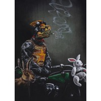 'The Wild One - Mr Snuggles Rides Again' A3 Limited Edition Print